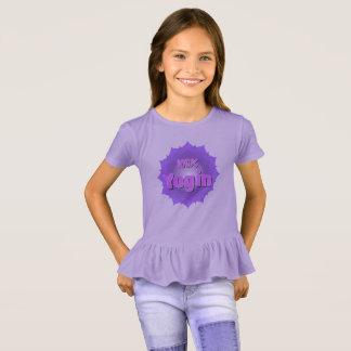 T - Shirt für Mädchen mit violettem Mandala