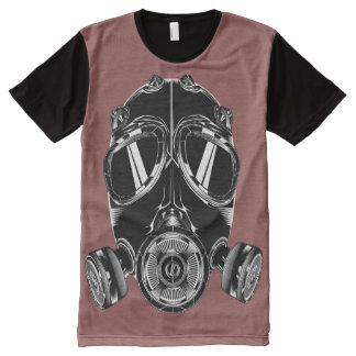 T-Shirt ganz über Maske bordeau T-Shirt Mit Bedruckbarer Vorderseite