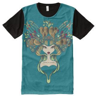T-Shirt ganz über Mélusine Blauente T-Shirt Mit Bedruckbarer Vorderseite