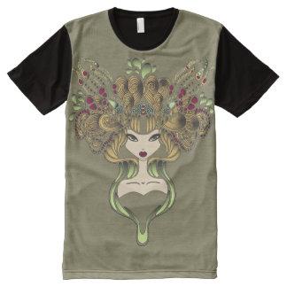 T-Shirt ganz über Mélusine Kakipflaumenbaum foncé T-Shirt Mit Komplett Bedruckbarer Vorderseite