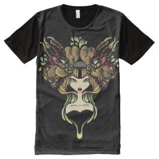 T-Shirt ganz über Mélusine Schwarzem T-Shirt Mit Bedruckbarer Vorderseite