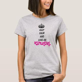 T-shirt Gardez le calme et aimez un Aspergirl