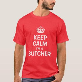 T-shirt Gardez le calme que je suis un boucher