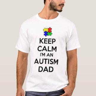T-shirt Gardez le calme que je suis un papa d'autisme