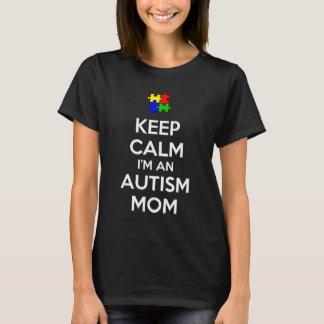 T-shirt Gardez le calme que je suis une maman d'autisme