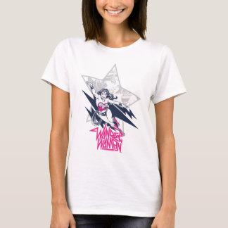 T-shirt Graphique fascinant de caractère de vol de roche