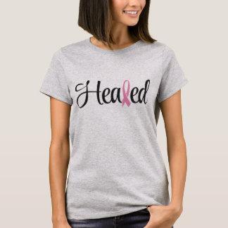 T-shirt guéri de ruban de rose de cancer du sein