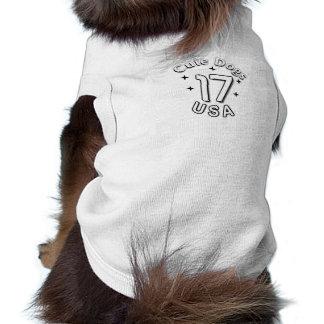T-shirt Habillement mignon de chien des Etats-Unis des