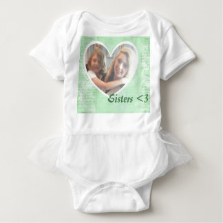 T - Shirt, Herz-Form-Foto-Einsatz Baby Strampler
