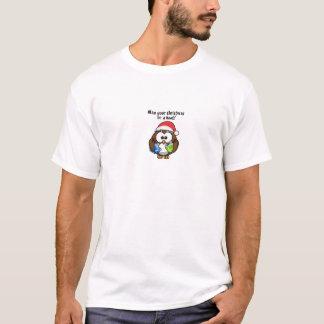 T-shirt Hibou de Noël de Père Noël