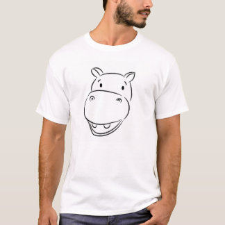 T-shirt Hippopotame souriant