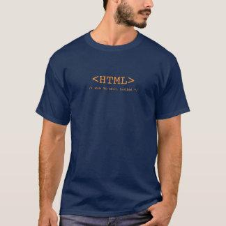 T-shirt HTML défini