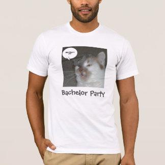 T-shirt Humour d'enterrement de vie de jeune garçon