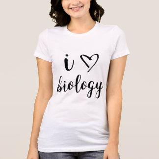 T-shirt I chemise de biologie de coeur