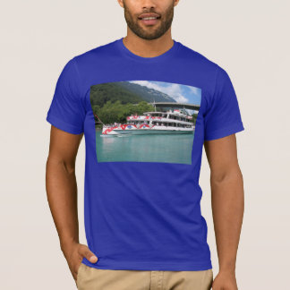 T-shirt Images suisses - edelweiss, vapeur, Brienzersee
