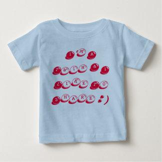 T-shirt infantile du Jersey de coton bleu, jumeau