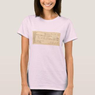 T-shirt James Garfield a signé le chèque depuis le 25