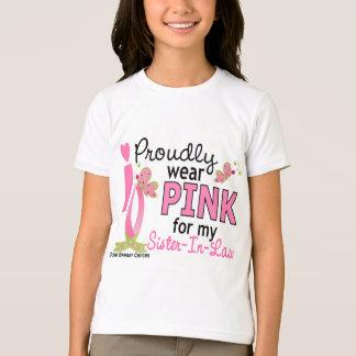 T-shirt Je porte le rose pour mon cancer du sein de la