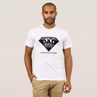 T-shirt Je suis une citation drôle de papa fier