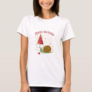 T-shirt Joyeux anniversaire ! Escargot de confettis