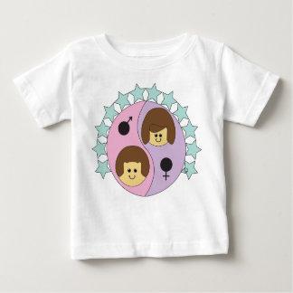 T-shirt jumeau de Gémeaux d'Astrobabies