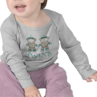 T-shirt jumeau de singe de chaussette de garçon