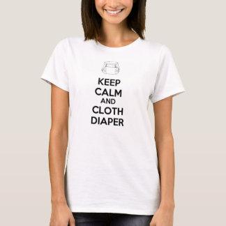 T-SHIRT KEEP CALM AND CLOTH DIAPER