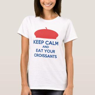 T-Shirt Keep Calm Croissants English