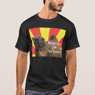 T-shirt Keep calm et voit camel