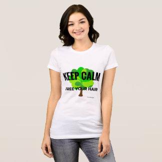 T-shirt keep calm free your hair