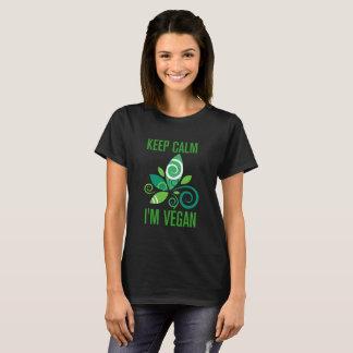 T-shirt Keep calm i'm végan