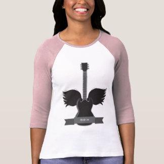 T-shirt La guitare s'envole des dames raglanes