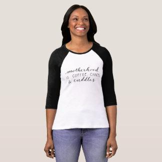 T-shirt La maternité est… Chemise de raglan de dames