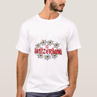 T-shirt La pièce en t des hommes d'edelweiss de la Suisse
