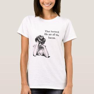 T-shirt Lard que le bâtard il a mangé tous