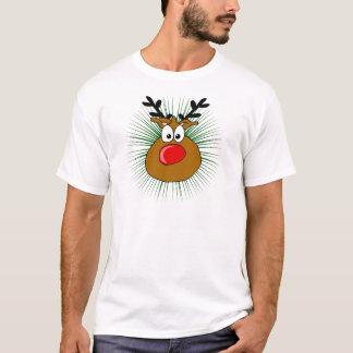 T-shirt le renne flairé rouge
