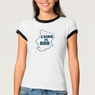 T-shirt Le Tchad est bleu d'ensemble de rad