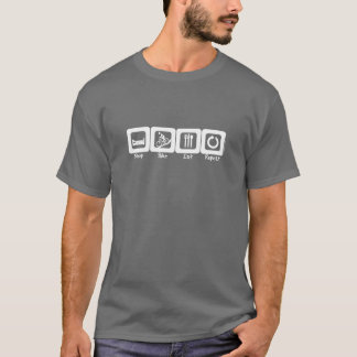 T-shirt Le vélo de sommeil mangent la répétition