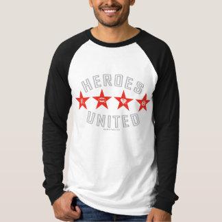 T-shirt Les héros de ligue de justice ont délié des logos