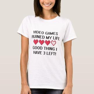 T-shirt Les jeux vidéo ont ruiné mon style de vie 1
