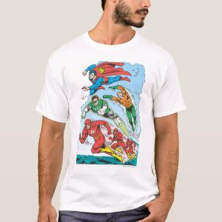 T-shirt Ligue de justice du groupe 3 de l'Amérique