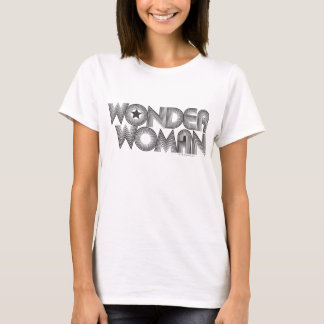 T-shirt Logo 3 de la femme de merveille B&W