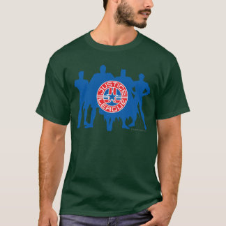 T-shirt Logo de ligue de justice et arrière - plan solide