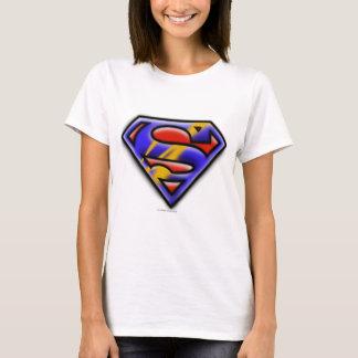 T-shirt Logo pourpre d'aerographe du S-Bouclier   de