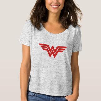 T-shirt Logo rouge de femme de merveille