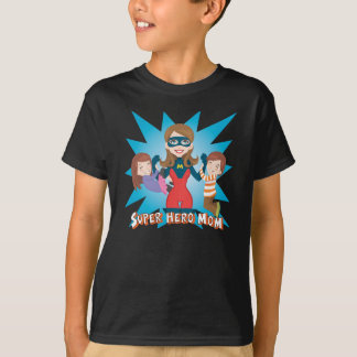T-shirt Maman de superhéros
