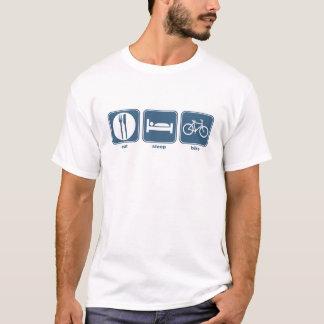 T-shirt mangez le vélo de sommeil