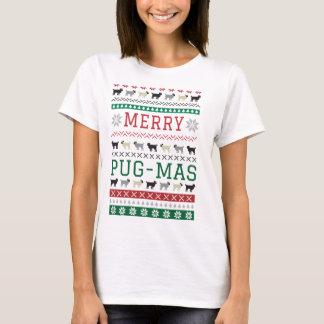 T-shirt mignon de Noël de chiens d'amusement de