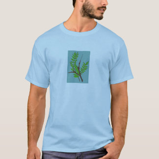 T - Shirt mit Blätter-und Zweig-Kunst für