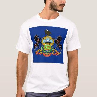 T-Shirt mit Flagge von Pennsylvania-Staat USA